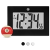 "Large Digital Frame Clock with 3.25"" Digits (BLACK)"