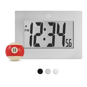 "Large Digital Frame Clock with 3.25"" Digits (GRAPHITE GREY)"