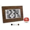 "Large Digital Frame Clock with 3.25"" Digits (WOOD)"