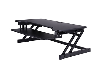 "Rocelco DADR Deluxe 37"" Sit To Stand Adjustable Height Desk Riser (Black)"
