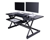 "Rocelco *NEW* 46"" Sit To Stand Adjustable Height Desk Riser w/ Extended Vertical Range (Black)"