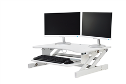 "Rocelco DADR Deluxe 37"" Sit To Stand Adjustable Height Desk Riser (WHITE)"