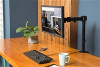 Rocelco DM1 Double Articulated Desktop Mount