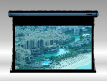 "INTEGRATED TAB-TENSION CINEMA (BLACK CASING) DESIGNER CONTOUR HIGH END TENSION MOTORIZED – 106""  Diagonal(16:9)"