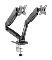 Rocelco MA2 Dual Monitor Arm with Motion Assist, USB & Multimedia Ports (BLACK)