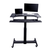 "Rocelco MSD-40 Mobile Sit-to-Stand Desk (40"" wide, BLACK)"