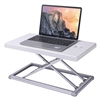 Rocelco PDR Portable Desk Riser for Laptops, Mobile Office Workspace (White/Silver)