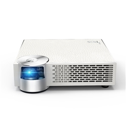 PIQS V 1100 Lumens Smart HD LED Portable Projector w/Auto-Focus, Virtual Touch Remote, Android, Wi-Fi, HDMI (WHITE)
