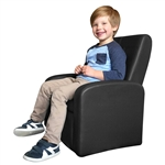 STASH Upholstered Folding Kids Chair with Built in Storage and Ottoman Conversion