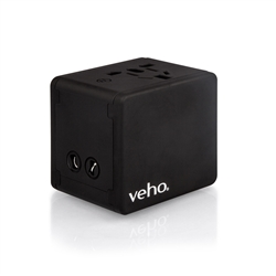 Veho TA-1 Universal 4-Port USB 5V 3.5A World Travel Charger, Wall Plug