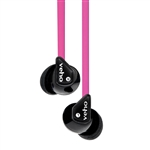 Veho VEP-003-360Z1 360 Stereo Noise isolating Earphones with flex 'anti' tangle cord (PINK)
