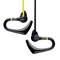 Veho VEP-005-ZS2 360 Water Resistant Sports Earphones with Ear Hooks and Flex Anti-Tangle Cable - Yellow/Black