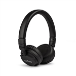 Veho ZB-5 On-Ear Wireless Bluetooth Headphones | Foldable Design | Leather Finish | Microphone | Remote Control | Wired Option | Rechargeable | Black - (VEP-012-ZB5) Headphone
