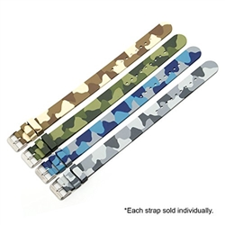 Marathon CAMOUFLAGE RUBBER WATCH STRAPS IN VARIOUS COLOURS (20MM)