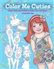 """Color Me Cuties"" Paper Doll Coloring Book"