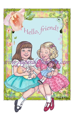 """Hello Friend"" Notecards"