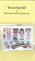 Mini Wee Beans Paper Doll & Scissors Set