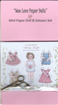 Mini Shirley Paper Doll & Scissors Set