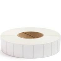 White adhesive barcode labels