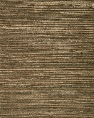 Coffee Brown Jute Grasscloth Wallcovering