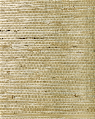 Arrowroot on Metallic Natural Grasscloth Wallcovering