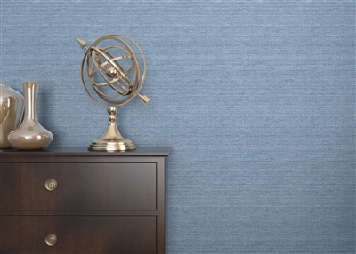 French Blue Sisal Grasscloth.