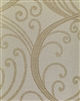 soft taupe large scroll jacquard textile