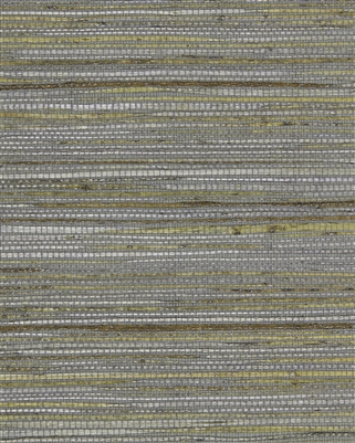 Sterling Silver Gray Metallic Painted Jute Grasscloth