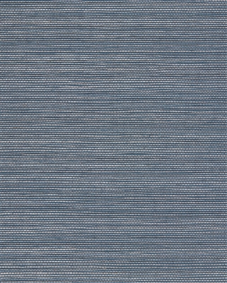 Pearlized Blue Powdered Sisal Grasscloth