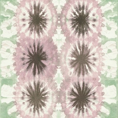 Dusty Rose and Mauve Abstract Floral Watercolor Print Vinyl Wallcovering