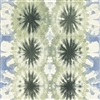 Soft Green and Blue Abstract Floral Watercolor Print Vinyl Wallcovering
