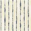 Soft Yellow and Blue Abstract Watercolor Stripe Vinyl Floral Wallcovering