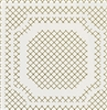 White Grid Tile Vinyl Wallcovering