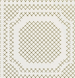 Biege on White Tile Grid Pattern Wallcovering