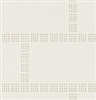 White on White Brick Grid Tile Vinyl Wallcovering