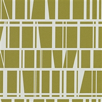Olive Contemporary Vinyl Wallcovering