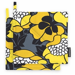Finlayson ANNUKKA Pot Holders, yellow/grey, a set of two, 100 % cotton