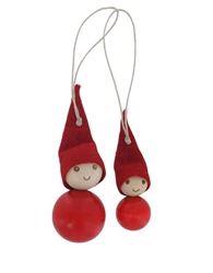 Aarikka Tonttusetti (Elves) Christmas Tree Decor, set of two elves