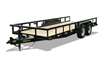 14PI Heavy Duty Tandem Axle Pipe Top Utility Trailer, trailers, Burgoon Company, Big Tex Trailers