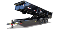 16LX Super Duty Tandem Axle Extra Wide Dump Trailer, trailers, Burgoon Company, Big Tex Trailers
