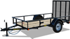 29SA Economy Single Axle Utility Trailer, trailers, Burgoon Company, Big Tex Trailers