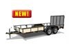 45ES Economy Tandem Axle Pipe Top Utility Trailer