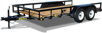 50LA Tandem Axle Angle Iron Utility Trailer, trailers, Burgoon Company, Big Tex Trailers