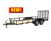 60ES Economy Tandem Axle Pipe Top Utility Trailer