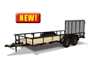 60PI Tandem Axle Pipe Top Utility Trailer