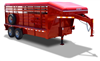 BRUSH BUSTER MT, livestock trailers, Burgoon Company, CM Trailers