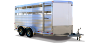 STOCKER-AL-V, livestock trailers, Burgoon Company, CM Trailers
