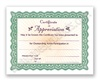 Goes 3461CA Certificate of Appreciation