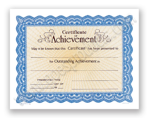 Goes Lithographing Company - 34625CA Certificate of Achievement