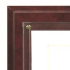 C8 Continental Series Plaque - Burgundy Marble